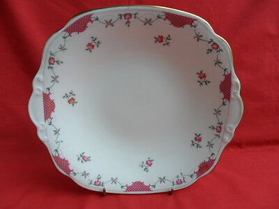 Cauldon, vintage Rose Bud  Serving Plate or Cake Plate