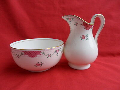 Cauldon, vintage Rose Bud  Milk Jug & Sugar Bowl