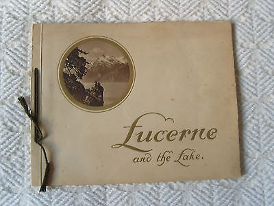 Lucerne and the lakes souvenir brochure