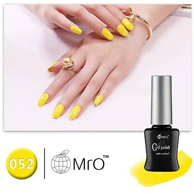 New MRO 052 Gel Nail Polish UV LED Varnish Soak Off Yellow Candy Colour Varnish