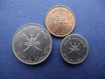 3 Different Oman Coins In Lovely Condition From 1989