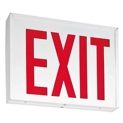 Emergency Fire Exit Sign Light Battery Operated LED New York Approved Red Letter