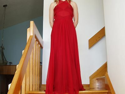 Prom / Formal Dress Red Size 0 Excellent Condition Used once