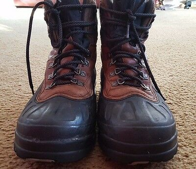 Columbia Thinsulate Waterproof Boots Size 11.5 US Brown / Black Mens
