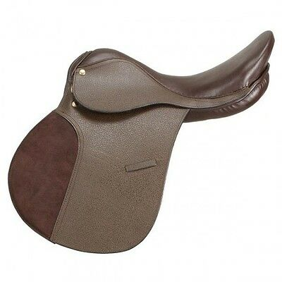 """Silver Fox 15"""" All Purpose Brown Leather English Saddle"""