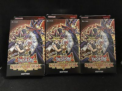 3 Packs of Yu-Gi-Oh! Trading Card Game Structure Deck Yugi Muto (1st Edition)