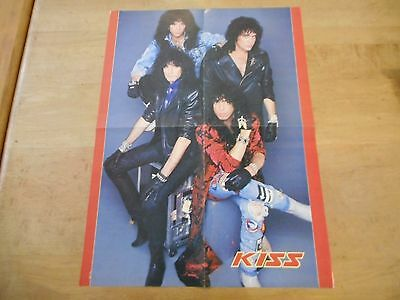Vintage Double Sided KISS Poster With Makeup Without Makeup 21x16 #20