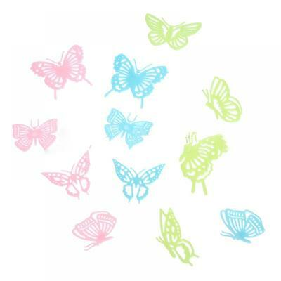 12pcs Fluorescent Luminous Butterfly Glow In The Dark Home Wall Sticker