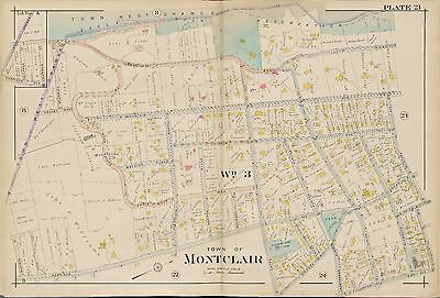 1904 Robinson Essex County Montclair New Jersey Eagle Rock Reservation Atlas Map
