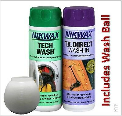Nikwax Tech Wash & Tx Direct Wash In 300Ml Twin Pack For Water Proof Clothing