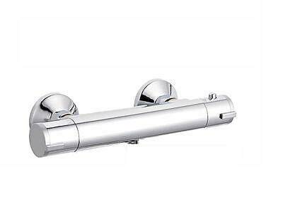 BNIB Thermostatic Bar Mixer Shower Valve | Round Chrome Bathroom Design