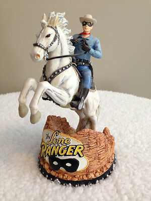 """The Lone Ranger & Silver 6"""" Collectible Bobber Statue"""