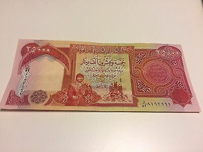 Mint Condition 25,000 Iraqi Dinar Note (IQD) Uncirculated AS BRAND NEW