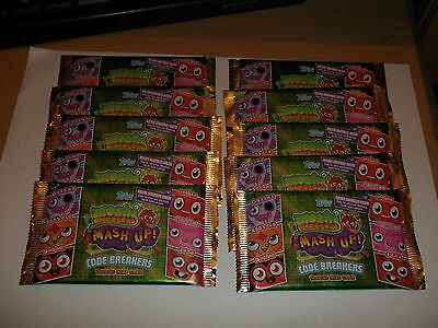 10 packs- of Moshi Monster Mash up . code breakers- trading cards