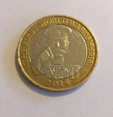 Lord Kitchener 2 Pound Coin. Rare WW1 £2 Coin Minting Error 2014