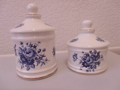 2 Bone China Jars With Lids