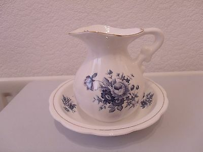 Bone China Small Jug And Bowl Made In England
