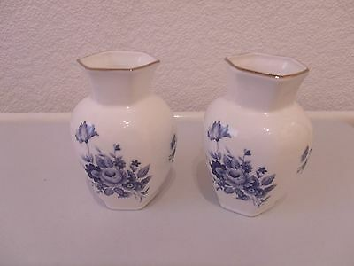 2 Bone China Small Vases Made In England