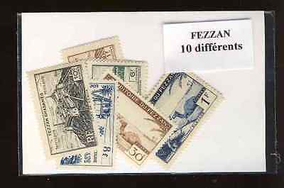Fezzan 10 timbres différents