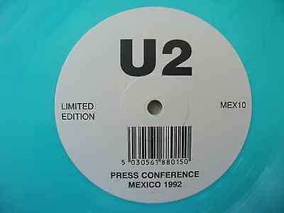 "MEX10 - U2 - Press Conference Mexico 1992 - 10"" - Turquoise Vinyl - Ltd. Ed.!"