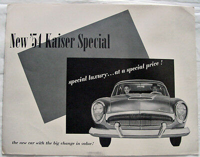 '54 Kaiser Special Advertising Brochure