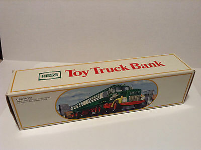 1984 Hess Toy Truck Bank complete: box,box inserts,instr. card,in very good cond