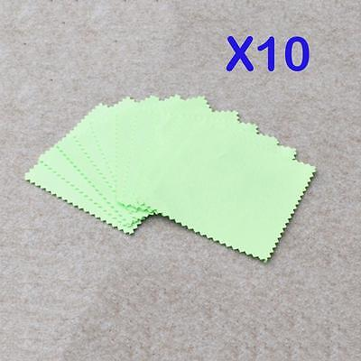 10 pcs Platinum Cleaner Cloth Cleaning Polishing Jewelry