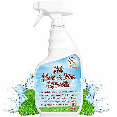 Pet Stain Odor Miracle Enzyme Cleaner for Dog and Cat Urine Feces Vomit Drool