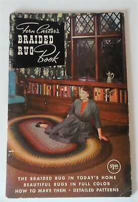 1958  Fern Carter's Braided Rug Book  Hand Made Rugs