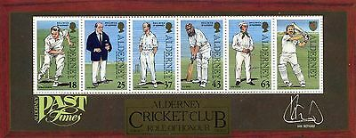 Alderney MS101 Cricket UMM Stamps