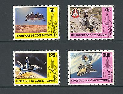 Ivory Coast 1981 SG 673-6  Conquest of Space   MNH