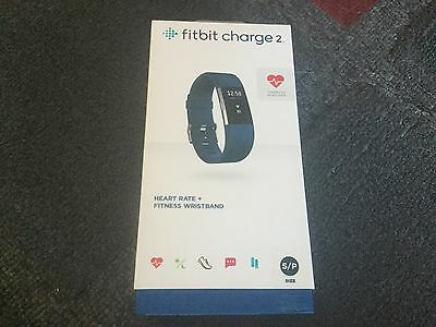 Fitbit Charge 2 Heart Rate + Fitness Wrist Band - blue , brand new sealed , look