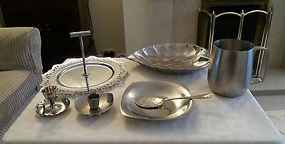 collection of stainless steel kitchenware