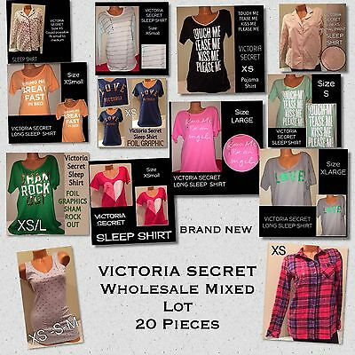 20 PC New Wholesale MIXED Lot Victoria Secret Lounge Sleep Button Down Shirts