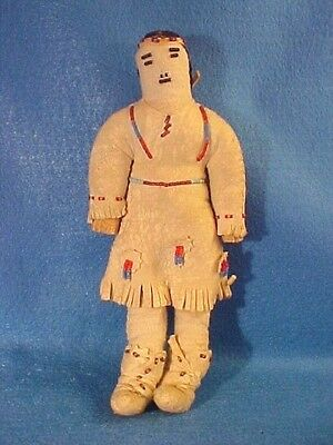 Great Example Late 19Th C Early 20Th C Central Plains Doll W/ Beaded Hide Dress