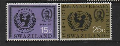 Swaziland 1972 Anniv Of UNICEF SG 192/3 MNH