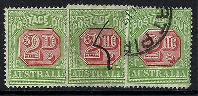 Australia SG# D102, Used and Mint Hinged, 3 stamps - Lot 021217