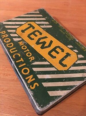 Vintage Tewel Motor Products Metal Tin Oil Petrol Can Retro Advertising Sign