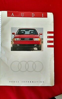 1993 Audi Models Press Packet with photos, slides, press releases