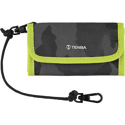 Tenba Reload SD 6 Card Wallet - Holds up to 6 SD cards - Camo/Lime -MPN: 636-219