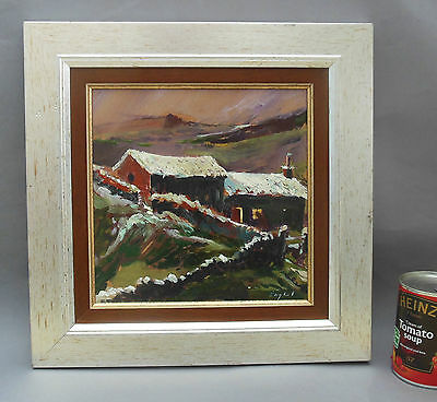Frederick J England Oil Painting ~ First Snows, Hill Farm, Flash, Peak District