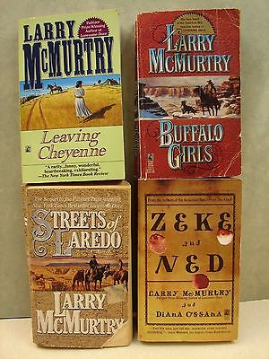 Lot Of 4 Western Paperback books, By Larry McMurtry