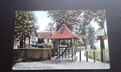 Old Postcard Lychgate Perivale Ealing London Middlesex Posted 1909