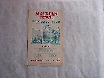 Malvern Town v Allens Cross 1960-1 Football Programme