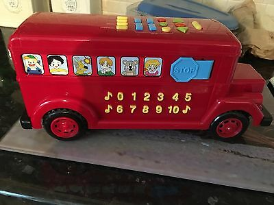 Child's Red Toy Bus Learn Your Letters