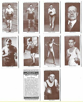 Churchman - Boxing Personalities - 10/50 - 1938 - Very Good To Excellent