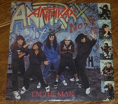 "Anthrax - I'm The Man  7"" Vinyl Single IS 338 Rock Metal (1987)"