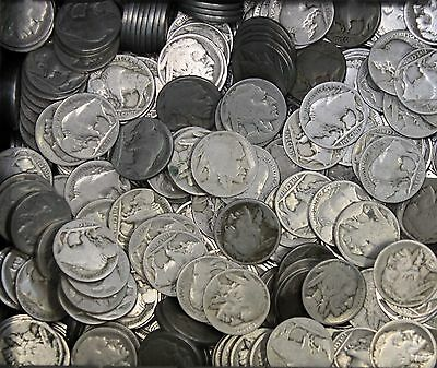 Kappyscoins Estate  Lot 100 No Date And Part Date Buffalo Nickels