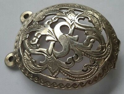 """Antique Chinese silver belt dress buckle. 1 3/4 """".  Weight 10 grams."""