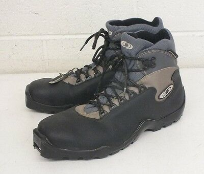 Salomon High-Quality Padded Black Leather SNS Profil Cross Country Boots Men's 9